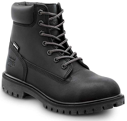 Timberland PRO 6-inch Direct Attach Women's, Black, Steel Toe, EH, Waterproof, Insulated Boots (9.0 M)