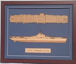 Delphic Fine Art USS Shangri-La CV-38 WWII Configuration Wood Model