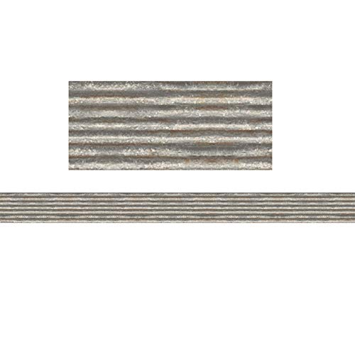 Teacher Created Resources Corrugated Metal Straight Border Trim (TCR3428)