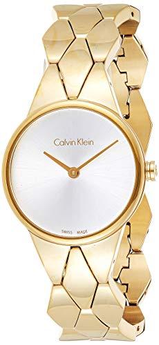 Calvin Klein Orologio Analogico Quarzo da Donna con Cinturino in Acciaio Inox K6E23546