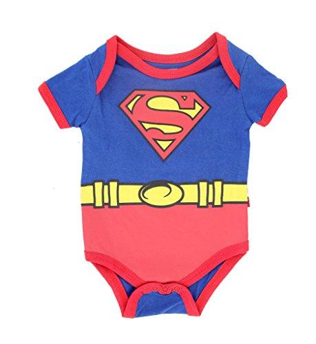 Superman Suit Blue Baby Onesie Romper (0-3 Months)