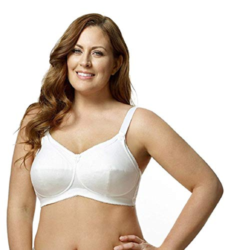 Elila Cotton Wire Free Nursing Bra (1613) 46J/White