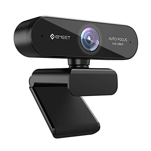 WEBカメラ ウェブカメラ eMeet NOVA 自動フォーカス HD1080P 200万画素 マイク内蔵 高画質パソコンカメラ skype会議用PCカメラ 96°広角 4層光学レンズ 省スペース 折り畳み式 USB給電 360°調整 プラグアンドプレイ 三脚取付可能 Windows10/8/7 Mac OS X, Youtube, Skype, zoom, facetime