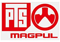 【大判】PTS MAGPUL マグプル カッティングステッカー【赤】