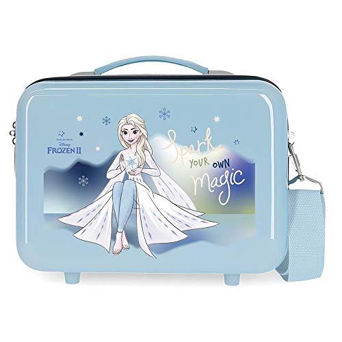 Disney Frozen Adventure of My Mind Neceser Adaptable Azul 29x21x15 cms Rígida ABS...