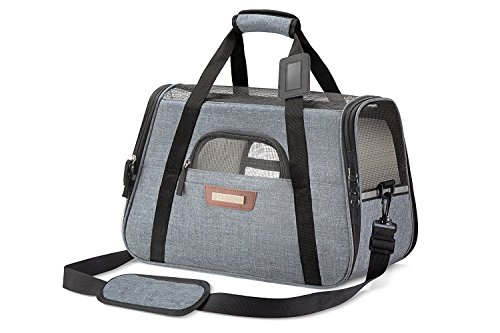Pet Carrier for Cats and Dogs - Pet Travel Carrier Airline Approved - Under Seat Pet Crate - Puppy...