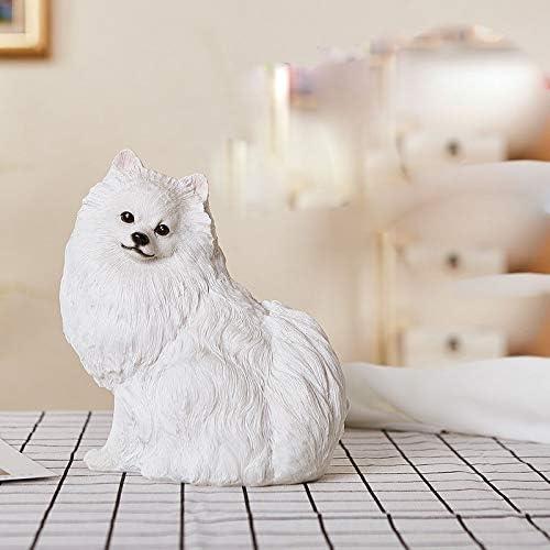 Columbus Mall ZHENGYU New product!! Garden Sculpture Outdoors Pomeranian Statue Cute Handmad