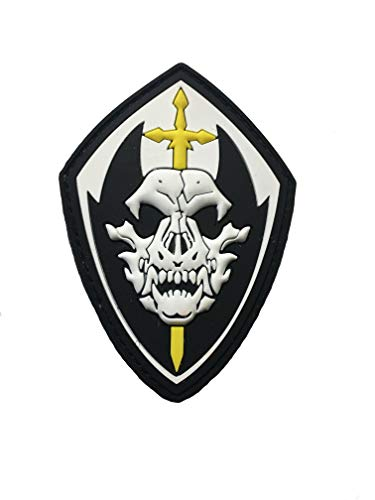 K9 PVC Tactical Police fang Special Forces (Hook/Loop) Gold Sword Patch