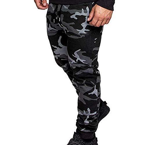 Pantalones Casuales Sueltos de Color sólido a la Moda para Hombre Pantalones de Jogging de Calle Hip Hop Pantalones de Jogging Pantalones de Cintura elástica Pantalones Harem M