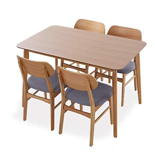 LOWYA ダイニングテーブル ダイニングセット 4人掛け オーク テーブル チェア 5点セット