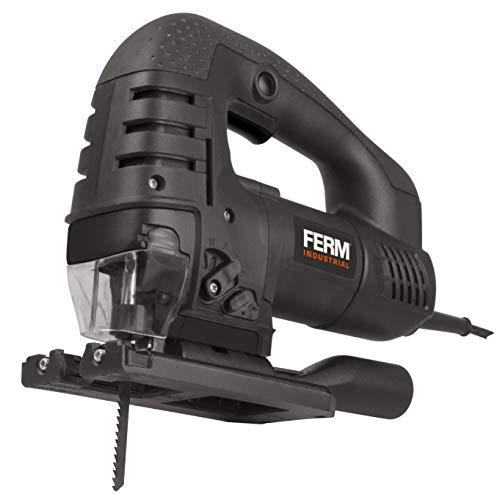 FERM JSM1025P Professioneel Decoupeerzaag 750 W - Variabele snelheid - Aluminium bodemplaat - Zaagsnedes tot 45 graden - 3 + 1 pendulumposities - 100 mm zaagblad - inclusief vacuümadapter