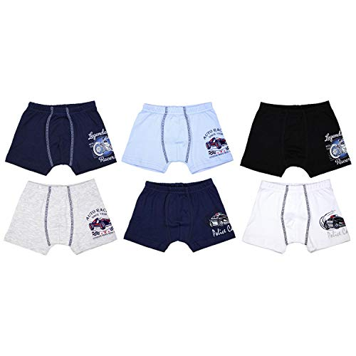 TupTam Jungen Unterhosen Slips o. Boxershorts 6er Pack, Farbe: Farbenmix 3, Größe: 104-110