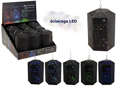 COOLMP - 1x - Lanterne hexagonale Carton ajouré LED 7cm