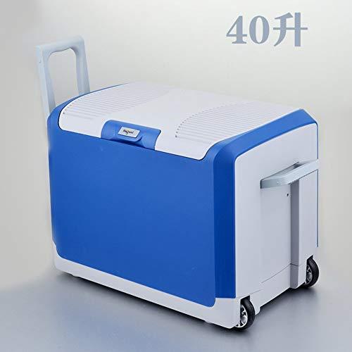 L@LILI 40l Auto Kühlschrank, Große Kapazität Mini-Kühlschrank Auto Doppel-Nutzung kalten und warmen Box Auto Mini-Malklauschrank 24v Kühlbox tragbaren Mini-Kühlschrank