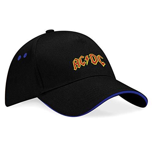 AC DC AC-DC Hard-Rock-Band Gorras de béisbol Bordado súper una Primera Calidad - K-148 (sw-Blau)