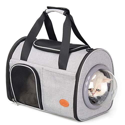 LSJQ Porta Gatos portátil Multifuncional, Mochila para Mascotas con cápsula Espacial para Que los Gatos y Perros salgan, Bolsa portátil para Gatos, Bolsa de Hombro Plegable, Ligera y Transpirable