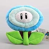 Mario Bros flor de hielo y flor de fuego 2 estilos 17 cm lindo juguete de felpa decoración de habitación regalo de cumpleaños muñeca de peluche regalo creativo