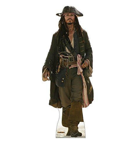 Cardboard People Captain Jack Sparrow Life Size Cardboard Cutout Standup - Disney's Pirates of The Caribbean