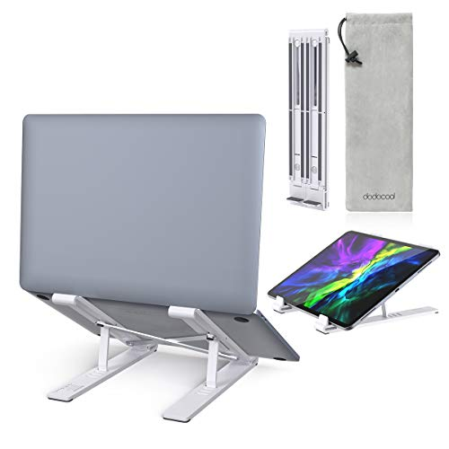 Laptop Stand, dodocool Laptop Holder Riser,4 Angles Adjustable Aluminum Ergonomic Foldable Portable...
