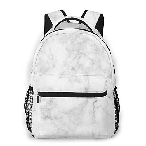XMTMR-Glass Zaino per adolescenti Uomo Donna Pacchetto portaoggetti,Modello di marmo delle mattonelle, Business Casual School Studenti Borsa da viaggio per laptop Daypack