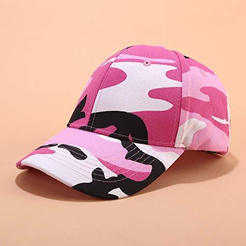 sdssup Gorra de Camuflaje Sombrero de Sol Salvaje para Mujer Sombrero de Sol Callejero Camo Rosa Ajustable
