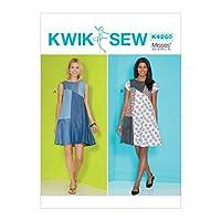 KWIK-SEW パターン K4260A Kwik レディースドレス 裁縫パターン サイズXS~XL