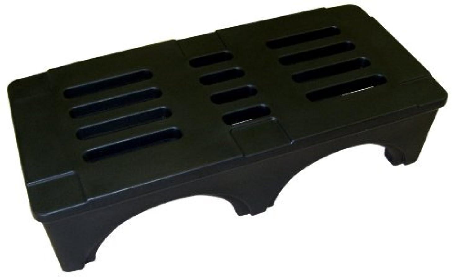 トレイルアカデミー服を洗うForte Products 8002028 SureStack Plastic Dunnage and Storage Rack 3000 Lb. Load Capacity 48 L x 22 W x 12 H Black [並行輸入品]