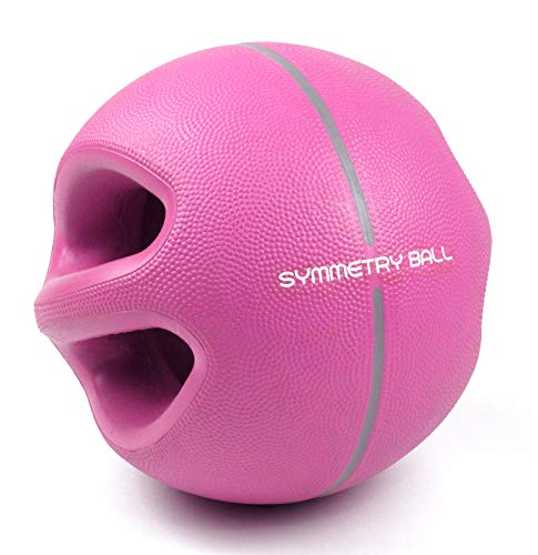 Smart Body Symmetry Ball - Patented Dual Handled Medicine Ball for Core Strength (6-Pound Purple)