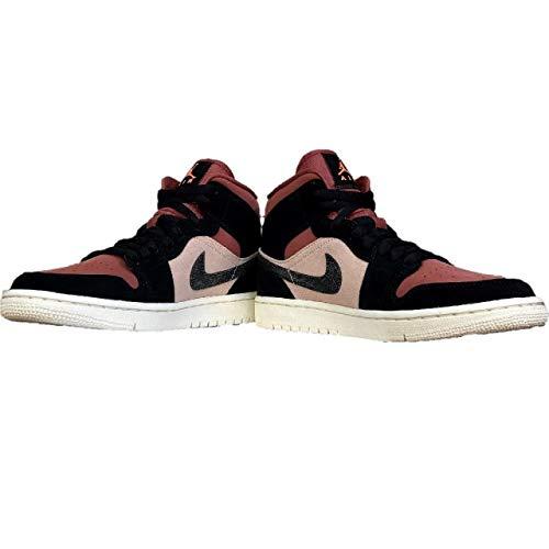 Nike Wmns Air Jordan 1 Mid, Zapatillas de bsquetbol Mujer, Particle Beige Black Canyon Rust Sail BRT Mango, 38 EU