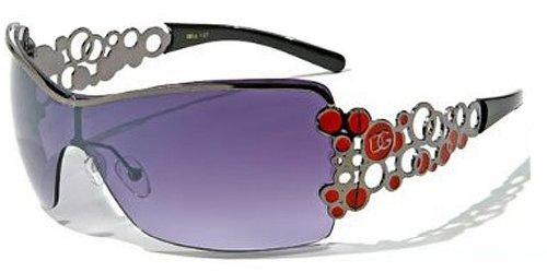 Fashion Eyewear Womens Metal Frame Tennis Sunglasses Tenis Gafas De Sol (Black w/ Case, Black)