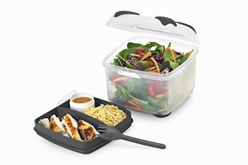 Nude Food Mover Smash Salatbox,Farbe kann variieren, transparent