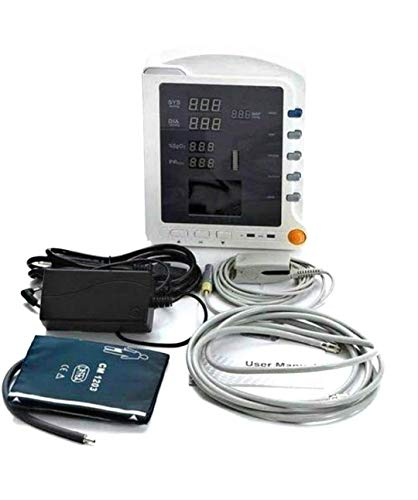 CONTEC CMS 5100 SPo2 and NIBP Measuring Patient Monitor (White)