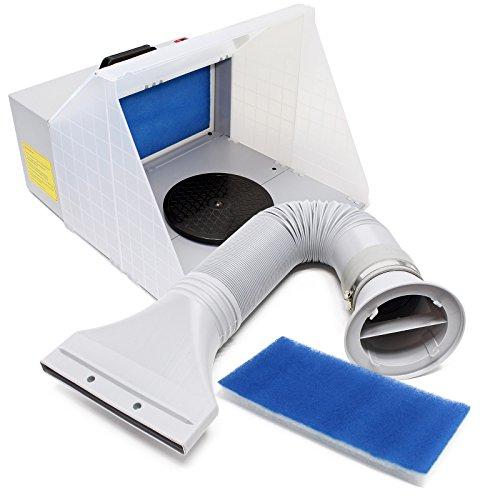 Airbrush Zubehör Absauganlage 4m³/min Komplett Set Farbnebel Außenluft und Ersatzfilter