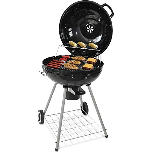 nonbrand Charcoal Barbecue Grill Stainless Steel Double Insulation Layer Independent Charcoal Gray Box Enamel Technology Charcoal Grill for Summer Family Garden Camping Picnics Outdoor Party