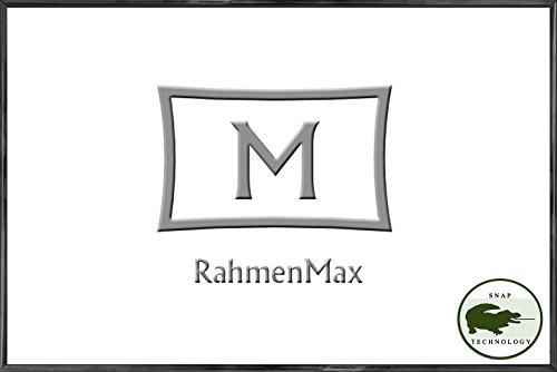 RahmenMax Kunststoff-Bilderrahmen Texas 60 x 80 cm, Schwarz mit 1mm Acrylglas klar und weißer Rückwand-WhiteFix.Viele Größen mit Paketpreisen. Jetzt: 5 STK. - Stückpreis: 15,88 EUR