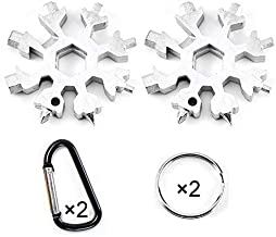 Outdoor Portable Keychain screwdriver 15-in-1 Stainless Snowflake Multi-tool Bottle opener Black
