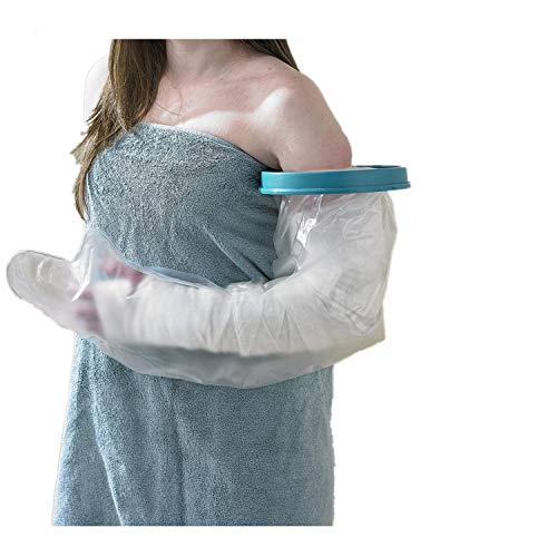 Adult Arm Cast Cover for Shower Waterproof Full Arm Cast Protector, Watertight Shower Bandage and Cast Bag for Broken Arm Cast, Surgery and Wound