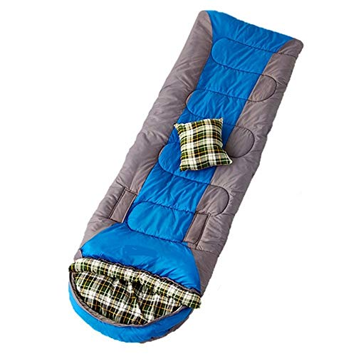 Goodvk Adult Sleeping Bag Portable Adult Sleeping Bag Oversized Warm And Light Stitching Envelope Sleeping Bag 100% Waterproof Compression Carrying Bag Ideal For Hiking Backpacks Easy to Carry