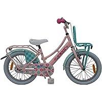 .Ibiza Bicicleta Niña 18 Pulgadas Freno Delantero al Manillar y Trasero Contropedal Portabultos Azul Rosa 95% Montado