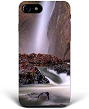 For iPhone 7 Plus + iPhone 8 Plus + Phone Back Case Hard Cover Custom Personalised Trendy Style Present Modern Design Protective Plastic UK Brand Appfix Landscape Waterfall Digital Cool