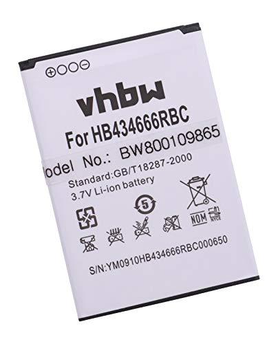 vhbw Li-Ion Akku 1500mAh (3.7V) für Handy Smartphone Handy Huawei E5577C, E5577S, E5577CS-321 wie HB434666RAW, HB434666RBC.