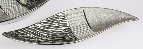 formano Dekoschale, Teller Strass Magic L. 40cm grau Silber Keramik W19