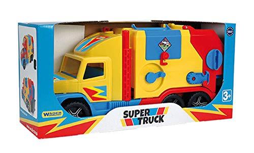 Wader - 2078193 - Super Truck - Camion Poubelle avec Convoyeur