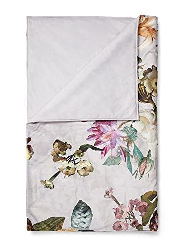 ESSENZA Quilt Fleur Blumen Pfingstrosen Tulpen Polyester Grau, 220x265 cm