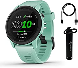 Garmin Forerunner 745 GPS Running and Triathlon Smartwatch Neo Tropic with Included Wearable4U Power Bank Bundle