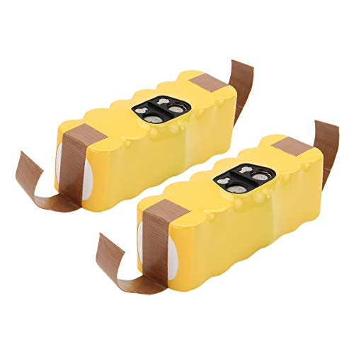 Exmate 14.4V 3.8Ah Ni-MH Batería de Repuesto para Roomba 80501 Apto para Roomba 500 600 700 800 Serie 510 520 530 531 532 533 535 540 545 550 552 560 562 570 580 581 585 595 600 610 620(Paquete de 2)