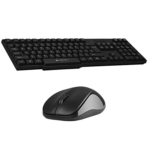 Zebronics Zeb-Companion 107 Wireless Keyboard and Mouse Combo with Nano Receiver (Black)