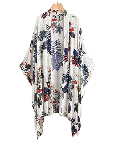 Sunnyme Dames zomer gebreide jas Boho strand Kimono Cardigan Tops Floral Print chiffon blouse casual los oversized
