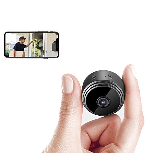 Mini Hidden Spy WiFi Telecamera,Mini Nascosta Telecamera Full HD 1080P Portatile Microcamera Mini Wifi con Visione Notturna Piccole Videocamera di Sorveglianza Senza Fili Spy Cam per Esterno/Interno