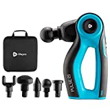 Pulse Fx Powerful Rotating Percussion Massage Gun - Deep Tissue Muscle Massager for Percussive Therapy, Pain Relief & Enhanced Recovery for Athletes - Charging Dock, 5 Attachments & 3 Speeds